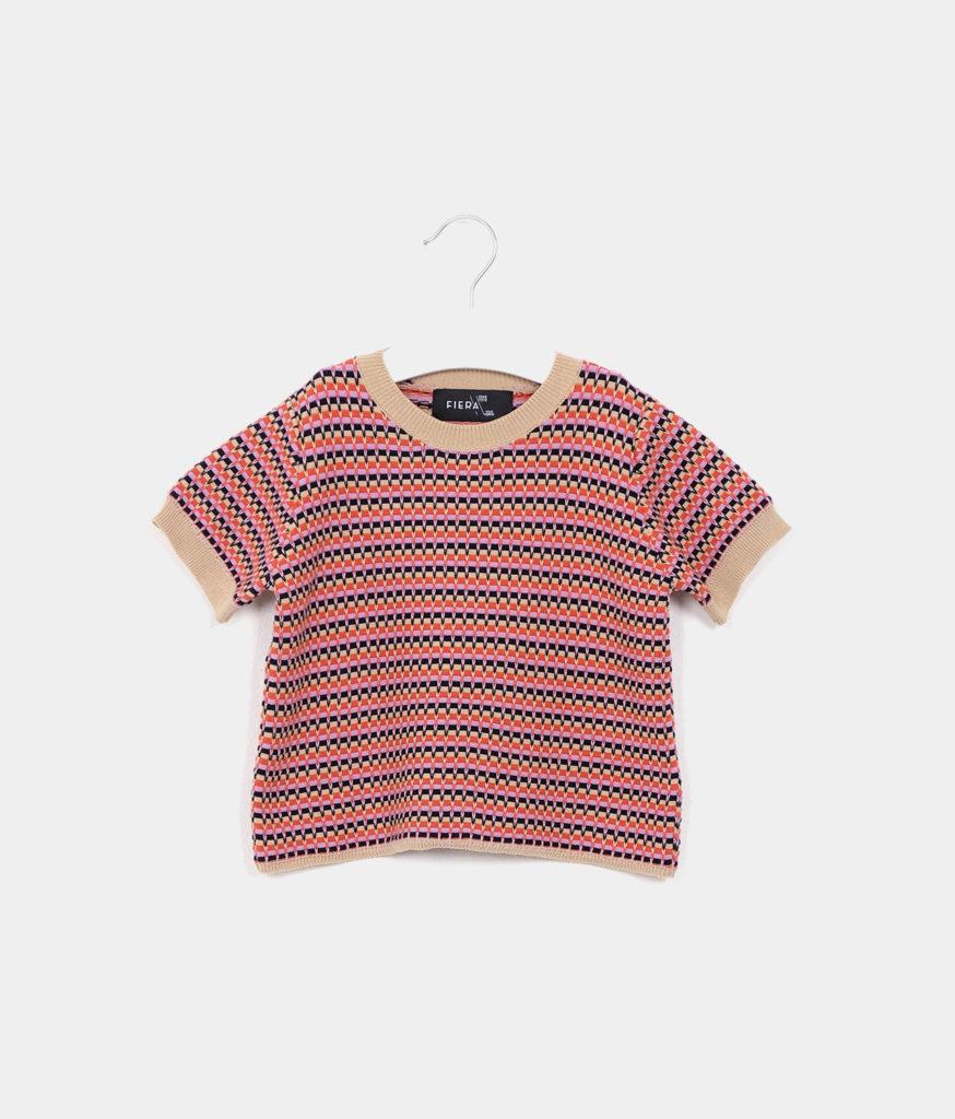 Kids short sleeved jumper red