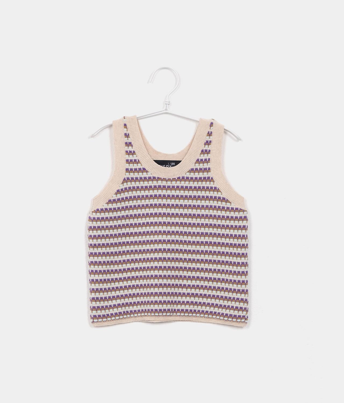 sleeveless top purple