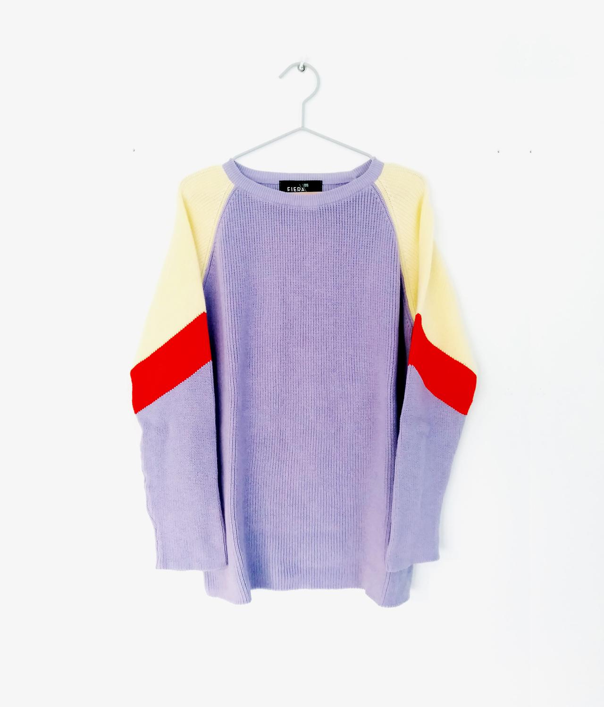 Fiera Origins Long Sleeve Jumper Purple